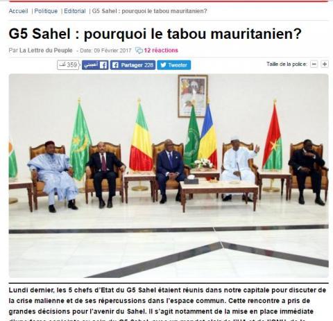 موقع مالي: النظام الموريتاني يقوم بإيواء إرهابيي الساحل (وثيقة)
